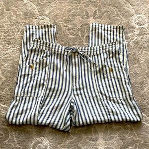 American Eagle Navy Pinstripe Pants